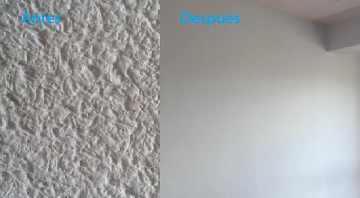 Quitar el gotel alisar las paredes reformas en alcala - Decorar paredes de gotele ...