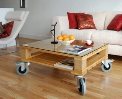 mesa con pallets